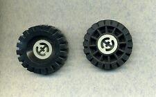 Lego -- 3634 -- neumáticos -- Tyre -- negro -- 17 x 43 -- 2 piezas -- con llanta gris/oldgray