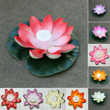 Solar Outdoor Floating Lotus Light Pool Garden Water Flower LED Lamp Lights