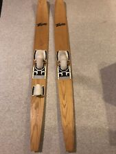 Two Vintage Thompson Wood Skis 70� Waterskis Prestine Condition!