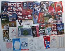 Pocket Schedules 1970s-up (mostly Boston Red Sox), Padres Pin, Magnets, etc.