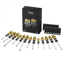 WERA Kraftform Pozi/Slot/Ph/Tx Hammer Thru Chisel Driver Screwdriver Set,133285