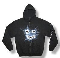 Disturbed-Shattered Face-XXL Black Hooded Sweatshirt
