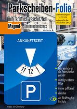 Parkscheibe Aufkleber Folie Sticker Etikett selbstklebend Variante A