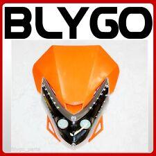 ORANGE Rec Reg LED Head Light Lamp PIT PRO Trail Dirt Motrocycle Motorcross Bike
