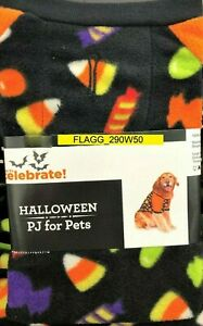 HALLOWEEN PJ's For Pets Dog Costume Sweater Holiday 2XL Black Candy Corn