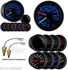 GlowShift Tinted 7 Color 300 F Dual Air Intake Temperature Gauge GS-T720