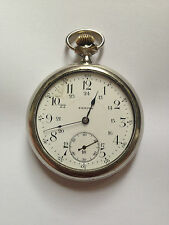 1918 Antique Swiss Made ZENITH Scarce Transparent Movement Pocket Watch working