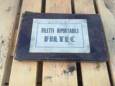 vecchia scatola FILETTI RIPORTABILI FILTEC - SCATOLA ORIGINALE attrezzi VINTAGE