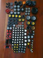 LEGO Vintage ANCIENS Lot de roues diverses anciennes vrac +140 pièces