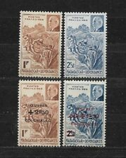 French MADAGASCAR 1941 Pétain  1944 Colonial works  Complete set 4 new stamps**
