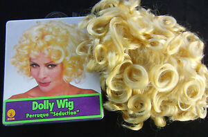 NEW Blonde Oversize Short Curly Dolly Wig Halloween Costume