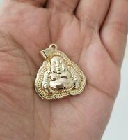 14k Yellow Gold Men Women Buddha Charm Pendant