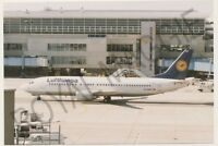 Colour print of Lufthansa Boeing 737 430 D-ABKF at Frankfurt in 1997