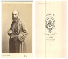 Constant Joseph Brochart, peintre CDV vintage albumen carte de visite.Constant