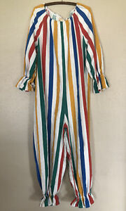 VTG Clown Suit Midcentury Handmade Circus Halloween Stripe Costume Adult Youth