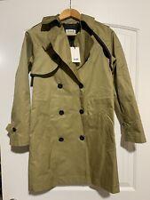 NWT COACH Women's Khaki CONVERTIBLE TRENCH Coat Wool Sz 6 Retail $795