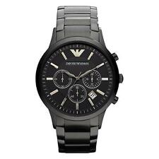 Emporio ARMANI AR2453 Mens Black Chronograph Watch 2 Year