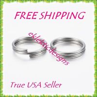 5mm 50pcs 1.2mm 304 Surgical Stainless Steel Double Split Jump Rings FREE SHIP