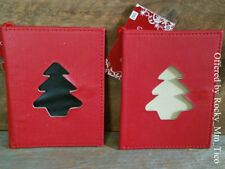 2~Christmas Tree Giftcard Holders/Hanging Ornament~New~photo unique holiday