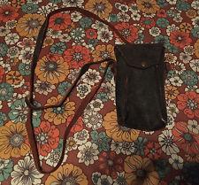 VTG 20s Kodak Eastman Camera Carrying Case Bag Purse Strap Brown Black Leather
