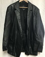 Bruno Giovanni Mens Leathercoat Sz 48