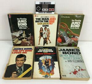Vintage James Bond 007 Paperback Book Bundle x6 PB Ian Fleming Pan Books