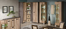 Wall Unit 6 Pieces with Display Case Rtv Shelf oak Living Room