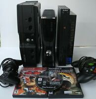 X-BOX 360 PlayStation 2 X-BOX Console Lot Games Controllers Mortal Kombat Tekken
