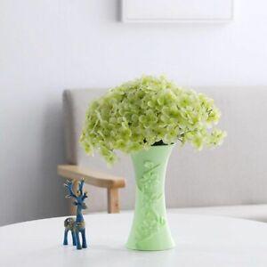 Plastic Flower Vase Decoration Home Vases Ceramic Imitation Flower Pot Basket