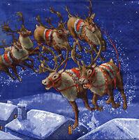 4 Motivservietten Servietten Napkins Decoupage Weihnachten Rentiere (1006)