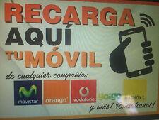 RECARGA TARJETA PREPAGO TELEFONO MOVIL TODAS LAS COMPAÑIAS