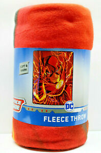 "DC Justice League ""The Flash""  Fleece Throw  45In x60in (114cm x 152cm)"