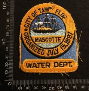 PRE OWNED CLOTH PATCH BADGE - CITY OF TAMPA WATER DEPT (DD31)