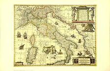 Italy 17th Century Historical Map Out Of Print from NYC Public Library Edition