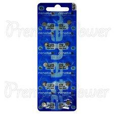 10 x Renata 379 Silver oxide batteries 1.55V SR521SW SR63 V376 Watch 0% Mercury