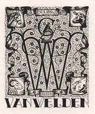 Ex Libris Geo Verbruggen : W. van Welden