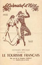 Catalogue Voyages Carnaval de Nice/Le Tourisme Français/1950