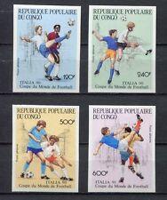 s6262) CONGO 1990 MNH** WC Football'90-CM Calcio 4v IMPERF