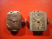 Movado Vintage woman two Wristwatch movement To repair or parts