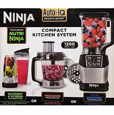 Nutri Ninja Blender System BL490UK2 with Auto-iQ & 1.2L Food Processor NEW