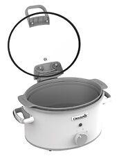 Crock-pot CSC038 Duraceramic saute Olla De Cocción Lenta Con Tapa Articulada, 4.5 L-Blanco