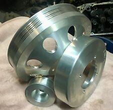 HOLDEN V6 NON- ECOTEC PULLEY COMBO PACK , 20% LARGER THAN STD ,SPEEDWAY