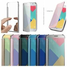2017 Luxury Clear Mirror View Slim Flip Hard Case Cover For Samsung Galaxy Phone