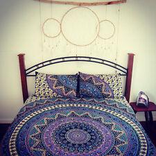 Indian Duvet Doona Cover Mandala Hippie Bohemian New Quilt +2 pillow Cover Set @