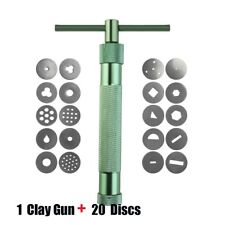 20 Discs Polymer Clay Extruder Craft Gun Sculpey Sculpting Sugarcraft Tools
