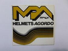 VECCHIO ADESIVO ORIGINALE / Old Original Sticker HELMETS MPA AGORDO (cm 9 x 8)