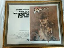 Indiana Jones Raiders Of The Lost Ark Original Half Sheet Poster Rare