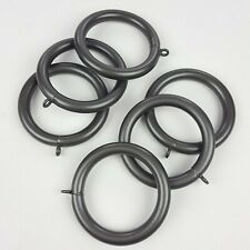 West Elm Oversized Metal Curtain Rings Gunmetal Finish Set of 6