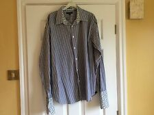 Ted Baker Shirt Navy Stripe, Size 5