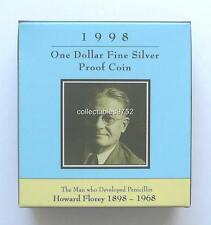 1998 LORD HOWARD FLOREY BIRTH CENTENARY ONE DOLLAR SILVER PROOF COIN